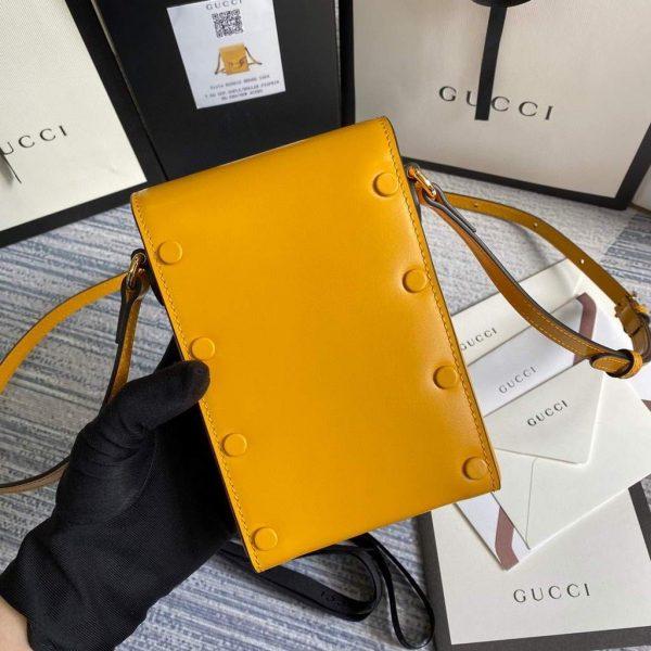 Gucci 625615 Gucci Horsebit 1955 Mini Bag Yellow - luxibagsmall