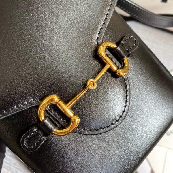 Gucci 625615 Messengers Gucci Horsebit 1955 Mini Bag Black - luxibagsmall