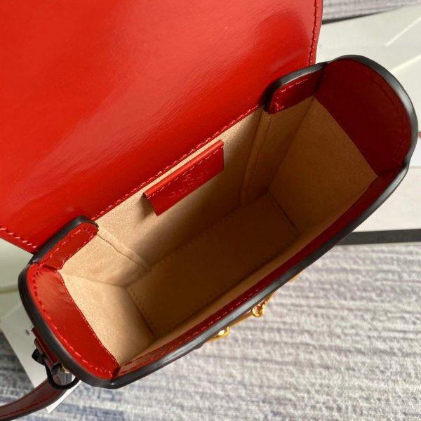 Gucci 625615 Messengers Gucci Horsebit 1955 Mini Bag Red - luxibagsmall