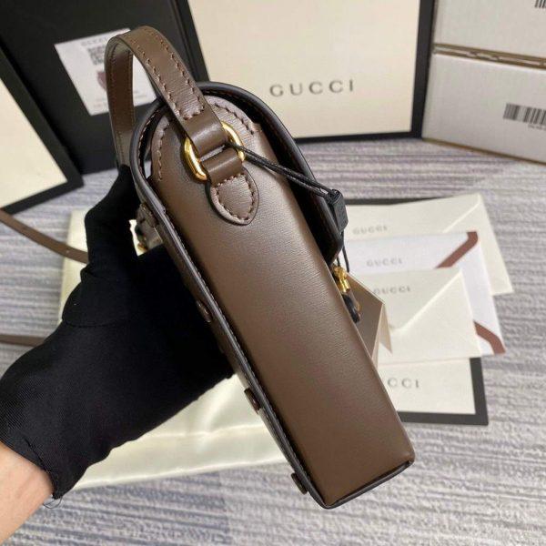 Gucci 625615 Gucci Horsebit 1955 Mini Bag Brown - luxibagsmall