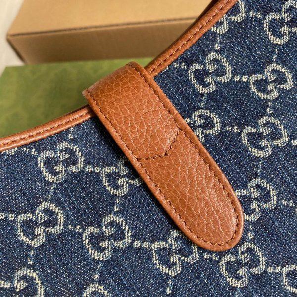 Gucci 636706 Jackie 1961 Small Shoulder Bag Dark Blue - luxibagsmall