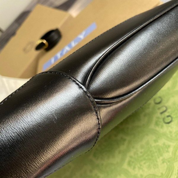 Gucci 636709 GG Jackie 1961 Small Hobo Shoulder bag Black - luxibagsmall