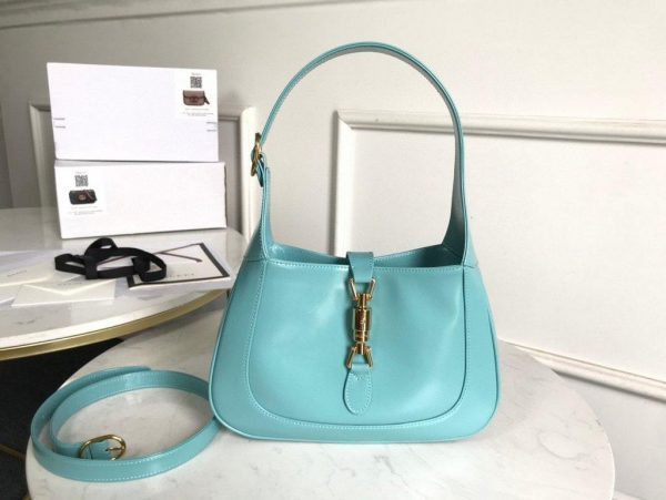 Gucci 636709 GG Jackie 1961 Small Hobo Shoulder Bag Blue - luxibagsmall