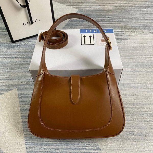 Gucci 636709 GG Jackie 1961 Small Hobo Shoulder Bag Brown - luxibagsmall