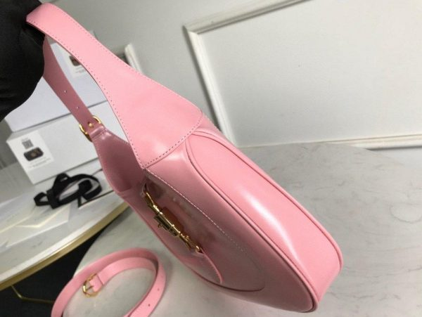 Gucci 636709 GG Jackie 1961 Small Hobo Shoulder Bag Pink - luxibagsmall