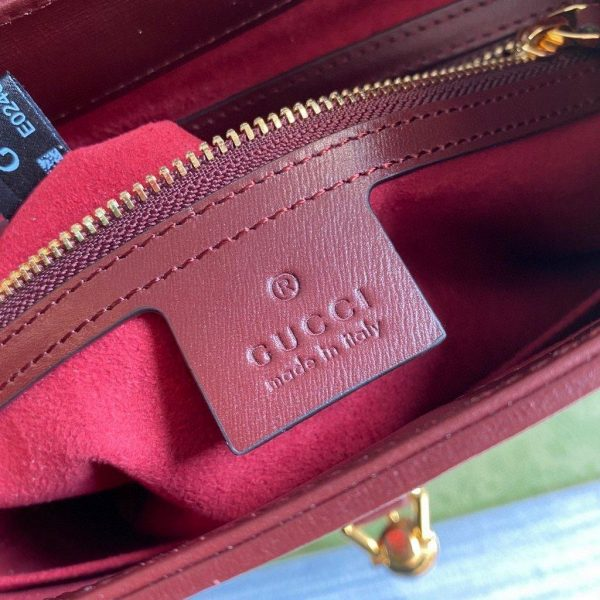 Gucci 636709 GG Jackie 1961 Small Hobo Shoulder Bag Wine Red - luxibagsmall