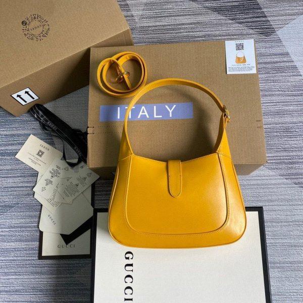 Gucci 636709 GG Jackie 1961 Small Hobo Shoulder Bag Yellow - luxibagsmall