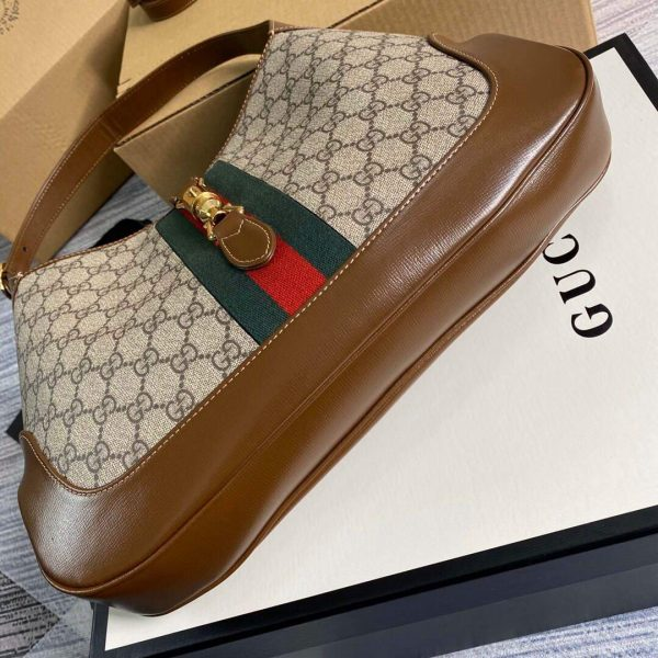 Gucci 636710 GG Jackie 1961 Medium Hobo Bag Red and Green - luxibagsmall