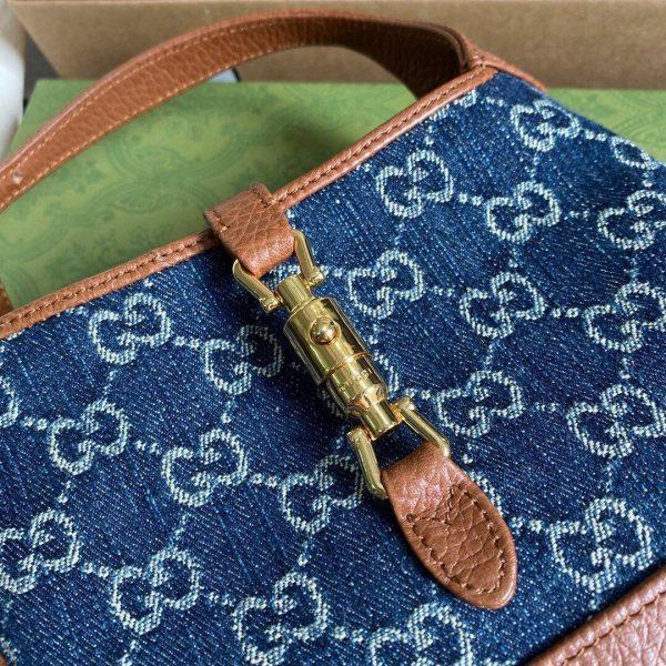 Gucci 637091 Jackie 1961 Mini Shoulder Bag Dark Blue - luxibagsmall