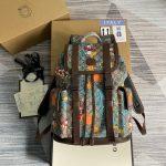 gucci 645051 disney x gucci donald duck medium backpack brown 0
