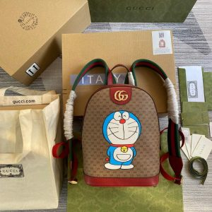 gucci 647816 doraemon x gucci small backpack in mini gg canvas 1