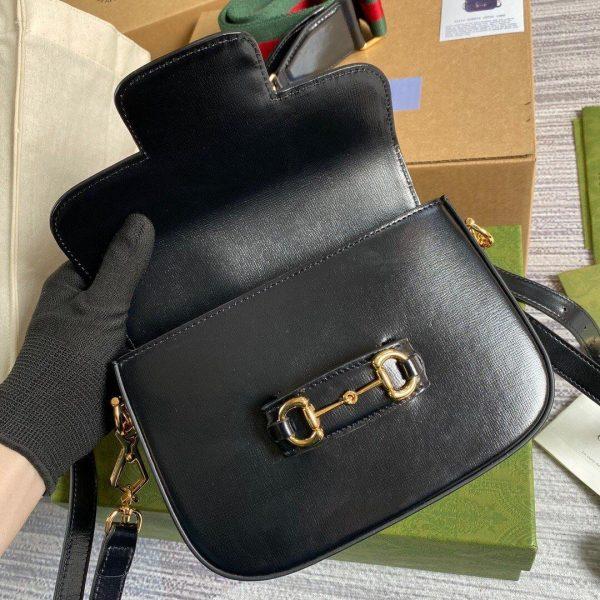 Gucci 658574 Gucci Horsebit 1955 Mini Bag Black - luxibagsmall