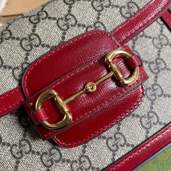 Gucci 658574 Gucci Horsebit 1955 Mini Bag Red - luxibagsmall