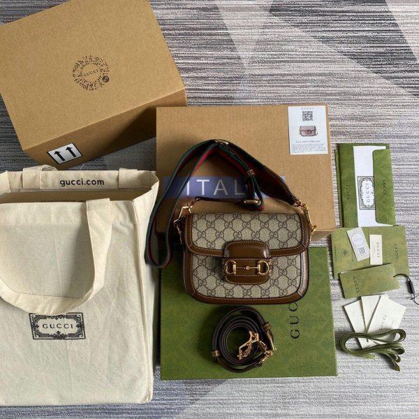 Gucci 658574 Gucci Horsebit 1955 Mini Bag Brown - luxibagsmall
