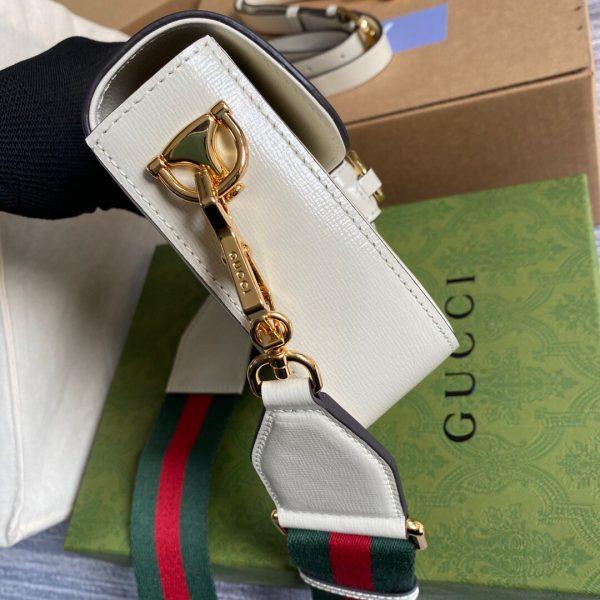 Gucci 658574 Gucci Horsebit 1955 Mini Bag White - luxibagsmall