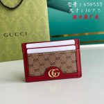 Gucci Card holders coin cases for women's Doraemon x Gucci card case 654539 Red - luxibagsmall