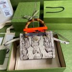 gucci diana mini tote bag top handle bag gucci 655661 grey 1