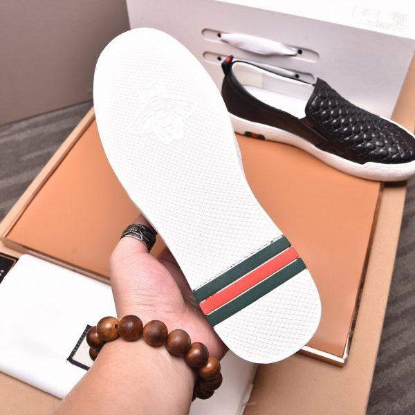 Gucci Men's GG Embossed Slip-on Sneaker 81112 Black - luxibagsmall