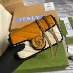 gucci online exclusive gg marmont mini bag gucci 574969 beige and yellow 1