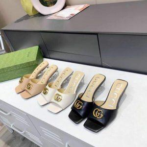 gucci sandals designer womens gg slippers 81153 black 0