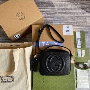 gucci soho small leather disco bag 308364 black 0