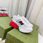 gucci women mens rhyton sneaker 645771 white 1