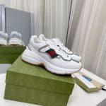 gucci women mens rhyton sneaker 657977 white 1