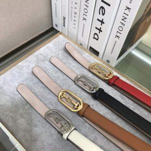 Gucci Women's Leather Belt with Interlocking G Horsebit Buckle 25MM 19008 - luxibagsmall