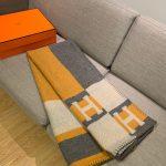 Hermes Avalon Rocabar Cashmere Blanket 29901 - Voguebags