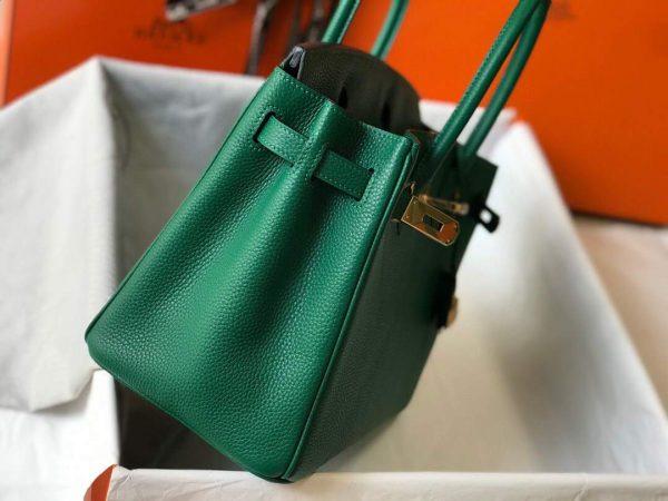Hermes Birkin Designer Tote Bag Togo Leather 28339 Green - luxibagsmall