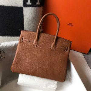 Hermes Birkin Designer Tote Bag Togo Leather 28340 Tan - luxibagsmall