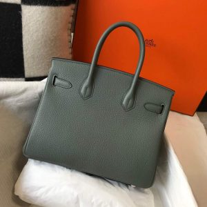 Hermes Birkin Designer Tote Bag Togo Leather 28346 Almond Green - luxibagsmall