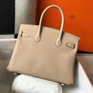 Hermes Birkin Designer Tote Bag Togo Leather 28347 Apricot - luxibagsmall