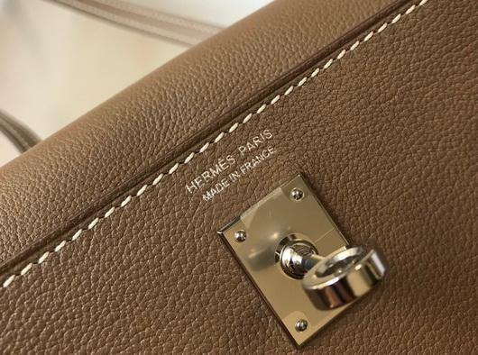 Hermes Kelly Danse 22cm Leather Bag 20352 Brown - luxibagsmall
