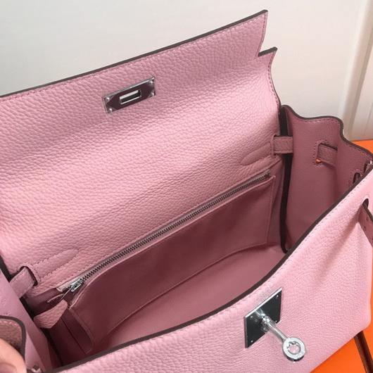 Hermes Kelly Danse 20306 Designer Tote Shoulder Strap Bag Pink - luxibagsmall