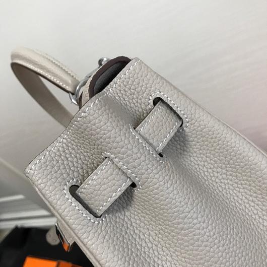 Hermes Kelly Danse 20308 Designer Tote Shoulder Strap Bag Gray - luxibagsmall