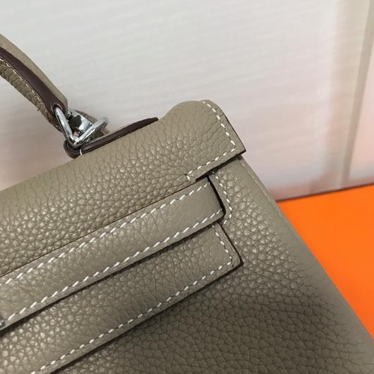 Hermes Kelly Danse 20315 Designer Tote Shoulder Strap Bag Apricot - luxibagsmall