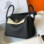 Hermes Lindy 26cm Designer Tote Shoulder Bags Black - luxibagsmall
