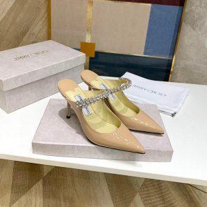 Jimmy Choo Women's Sandals BRESLIN Jimmy Choo Slippers 81150 Apricot - Voguebags