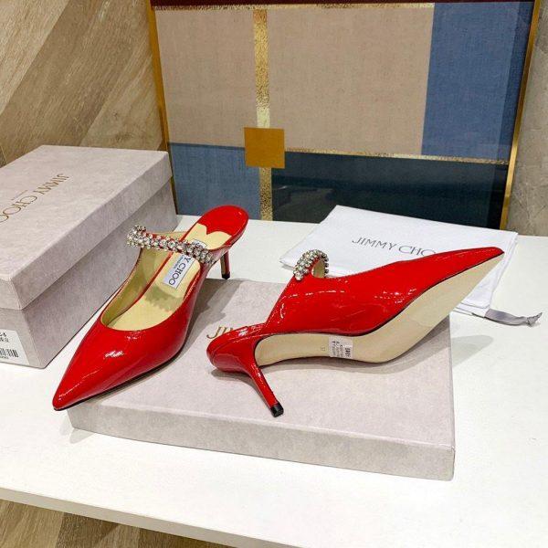 Jimmy Choo Women's Sandals BRESLIN Jimmy Choo Slippers 81150 Red - Voguebags
