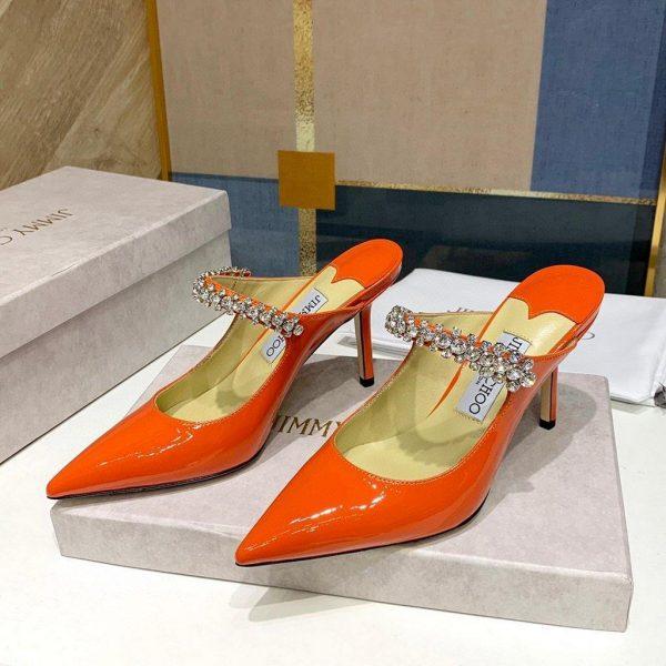 Jimmy Choo Women's Sandals BRESLIN Jimmy Choo Slippers 81150 Orange - Voguebags