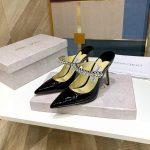 Jimmy Choo Women's Sandals BRESLIN Jimmy Choo Slippers 81150 Black - Voguebags