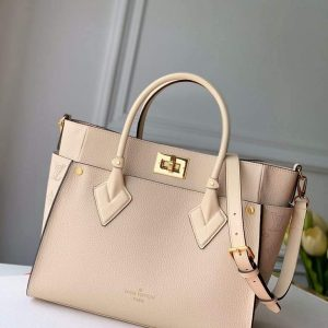 louis vuitton m55302 lv m53823 on my side mm m53825 high end leathers bag beige 1