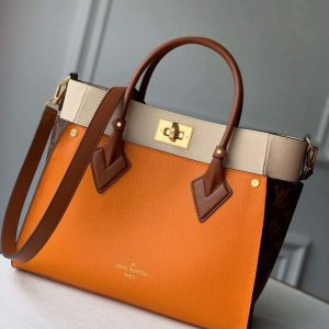 louis vuitton m55302 lv m53823 on my side mm m53825 high end leathers bag orange 1