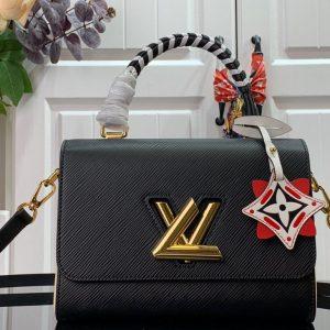Louis Vuitton M56780 LV Crafty Twist MM Bag M56779 Epi Black - luxibagsmall