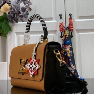 Louis Vuitton M56780 LV Crafty Twist MM Bag M56779 Epi Brown - luxibagsmall