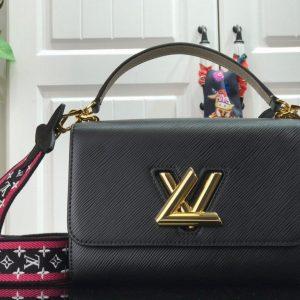 Louis Vuitton M56780 LV Crafty Twist MM Shoulder Bag M50280 Epi Black - luxibagsmall
