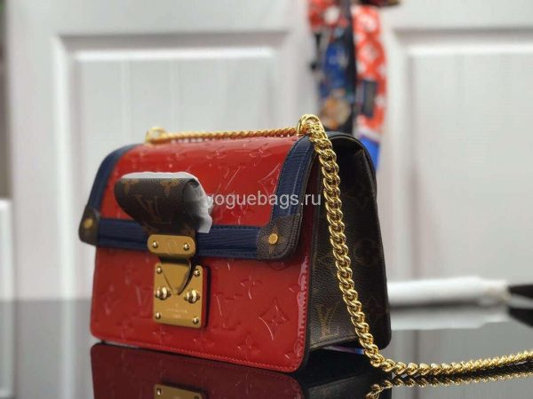 Louis Vuitton M90517 LV Wynwood Monogram Vernis Bag M90566 Red - Voguebags