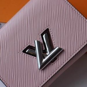 LV M64414 Louis Vuitton Twist Compact Wallet Epi Leather Pink - luxibagsmall