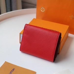 LV M64414 Louis Vuitton Twist Compact Wallet Epi Leather Red - luxibagsmall